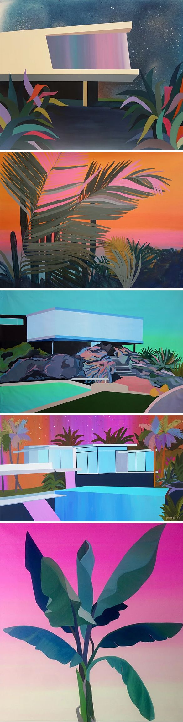 javieradafonseca    Such BEAUTIFUL colours and BEAUTIFUL paintings found via the always wonderful thejealouscurator.com <3 <3
