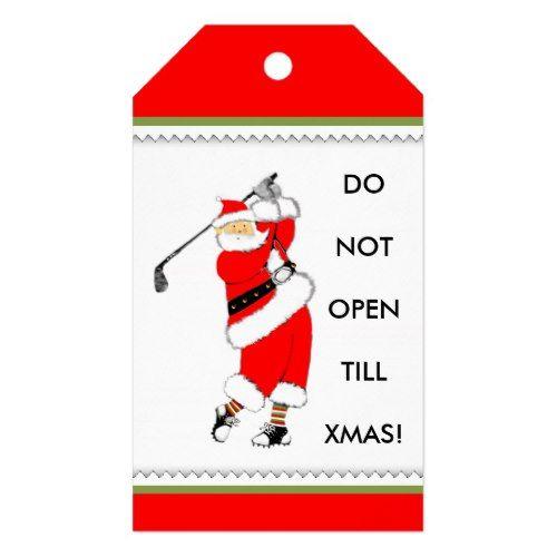 Golf Christmas Gift Tags