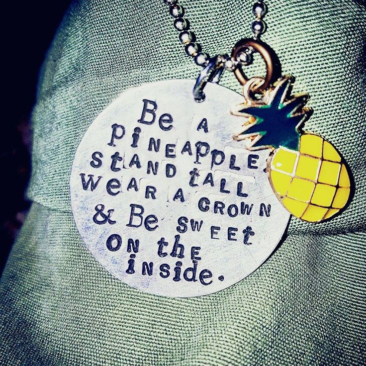 """Be a Pineapple {Necklace} """"Be a Pineapple: Stand tall, wear a crown, and be sweet on the inside."""" This sweet necklace comes with an enameled pineapple charm and a 30 inch small ball chain. This one is a show stopper!"""