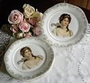 antique Victorian woman platesVictorian Woman, Beautiful Women, Bavaria Porcelain, Shabby Chic Home, Chic Home Decor, Woman Plates, Products, Antiques Victorian, Queens Louis