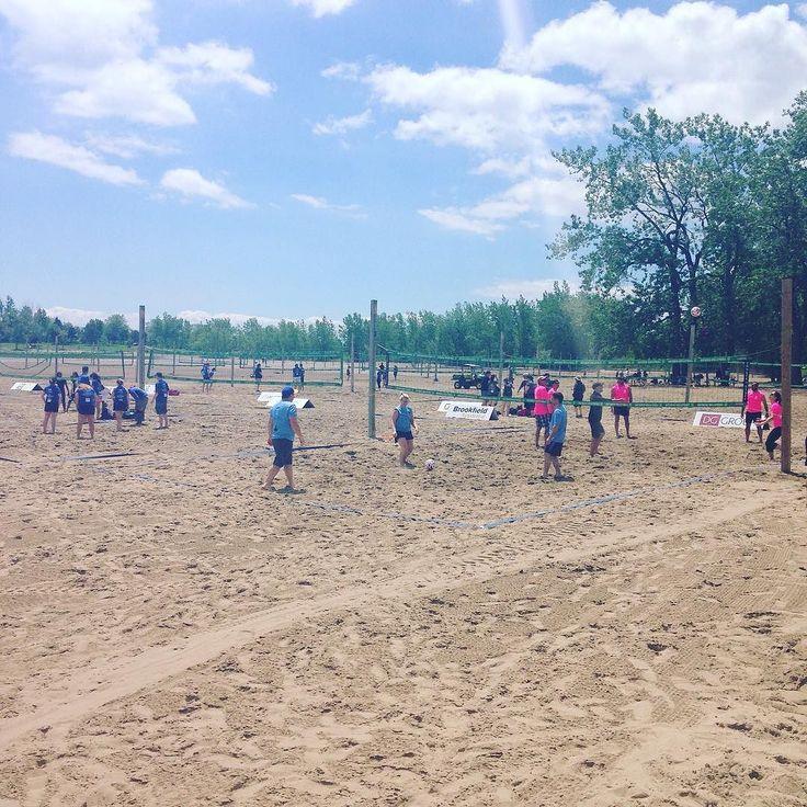 Work day includes a charity volleyball tournament. @bildgta @renomark_ca @habitatgta #summer #volleyball #ybild #charity