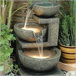 Put a little zen into your home garden with an outdoor water fountain.  This eye-catching Rocca fountain from Cymax is made of high quality light weight resin which is easy to clean and can be easily moved indoors during the winter months.