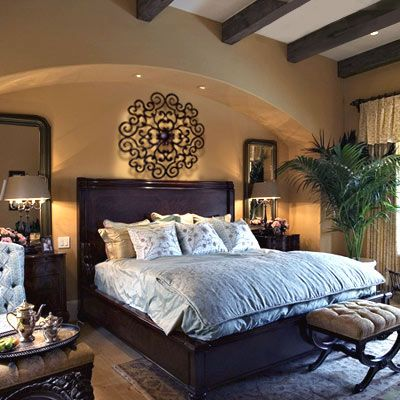 203 best tuscan images on pinterest for Spanish style bedroom