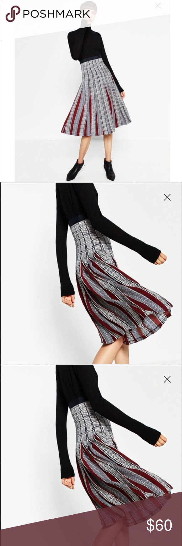 ZARA Printed Accordion-Pleat Midi Skirt Silky NWT ZARA Printed Accordion-Pleat Midi Skirt Silky Touch // New With Tags // SOLD OUT ONLINE and IN STORES // True to Size // 15% off on bundles // I ship same-day from pet/smoke-free home. Buy with confidence. I am an expert top seller with close to 400 5-star ratings and A LOT OF LOVE NOTES. Check them out. 😊😎 Zara Skirts Midi