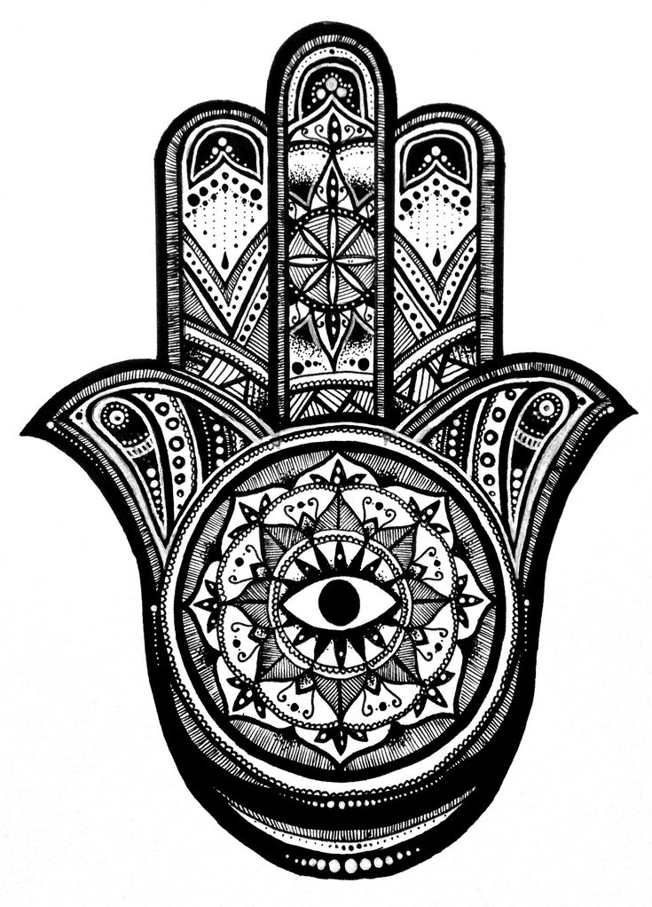 hamsa+Art | simple hamsa colouring pages (page 2)
