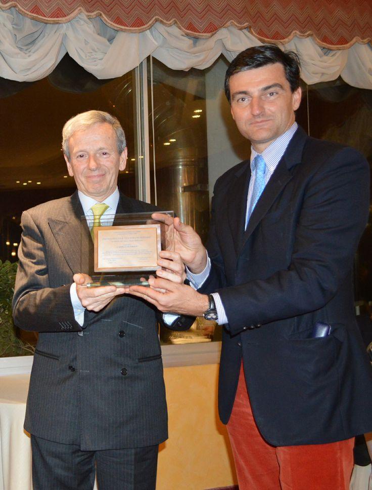 Marco Cavedagni e Achille Sassoli di Carpigiani ritirano il Premio Speciale Cultura di Settore