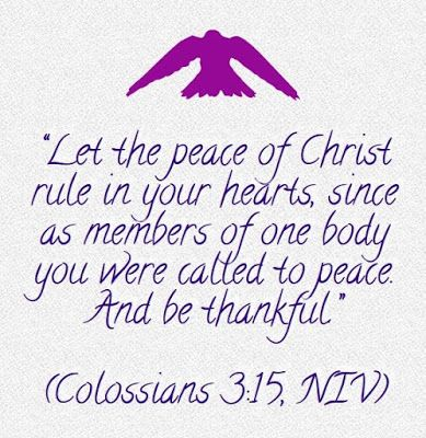 Heart of a Ready Writer: 1. Peace rules – 30 days of thankful Scriptures