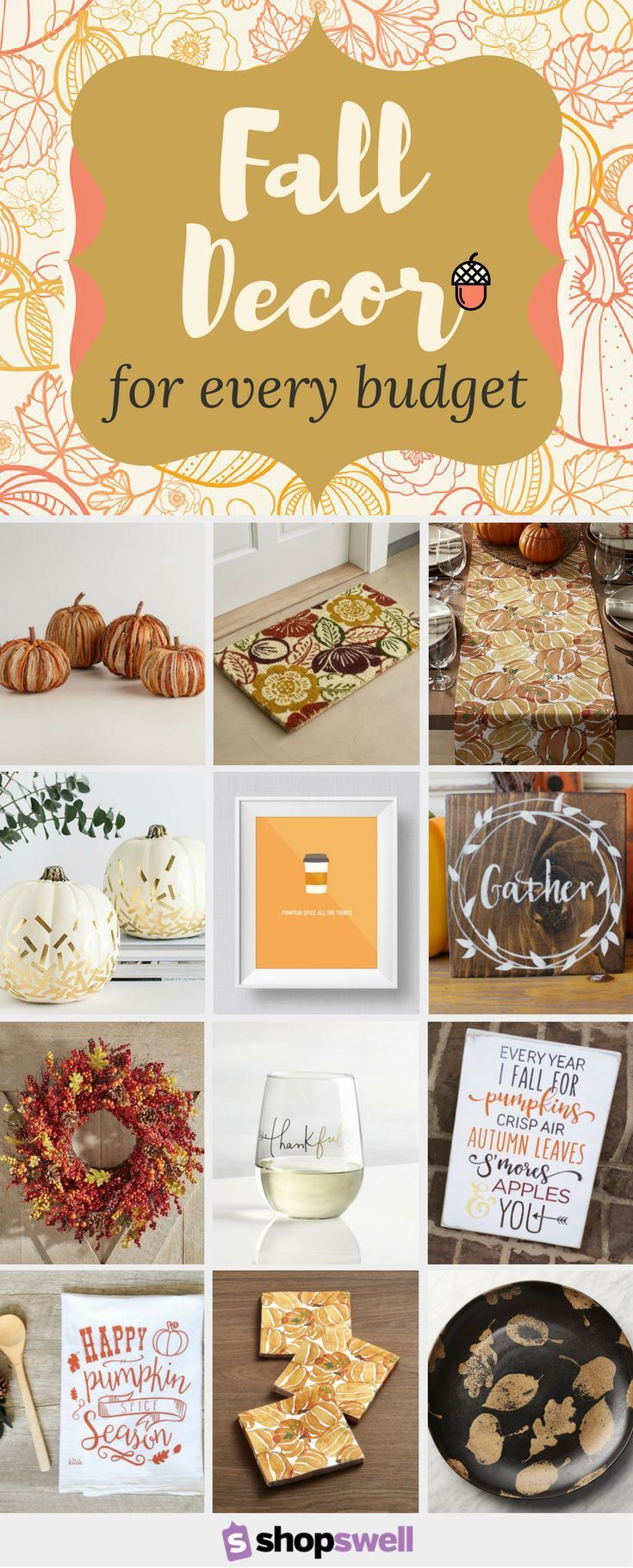 Fall decorating on a budget - 50 Fall Tablescapes Home Decor Essentials For Every Budget