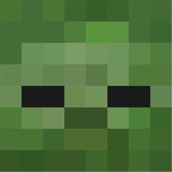 minecraft zombie face - Google Search