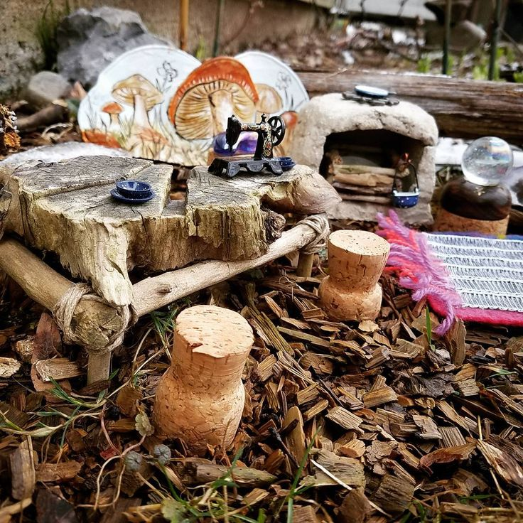 Had some fun outside before the snow today... Is Spring here YET?!? Fairy garden tea party anyone?   #miniature #tiny #fairygarden #teaparty #fairy #fantasy #crafty #hobby #mushrooms #mini #diy #dollhouse #magical #craft #makebelieve #fairyfurniture #nature #garden #minibegginer #tinyhouse #minimalism #handmade  #love #create #coexist