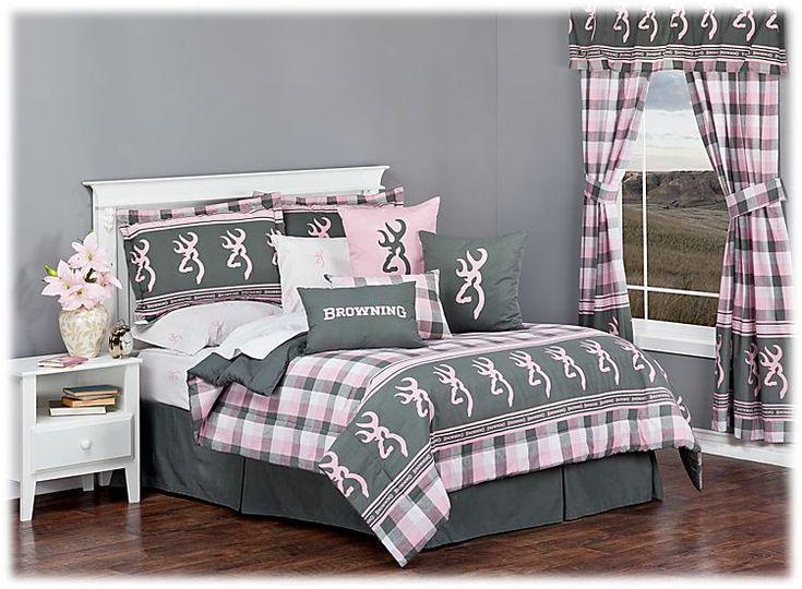 Browning® Buckmark Plaid - Comforter Set | Bass Pro Shops #mothersdaygifts #browning #beddingset