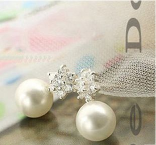 2015 explosion models cute teenage fashion jewelry snowflake earrings wholesale gift free shipping