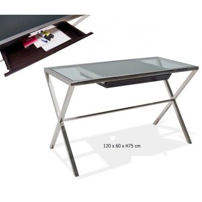 17 best images about escritorios on pinterest mesas for Mesa cristal ikea escritorio