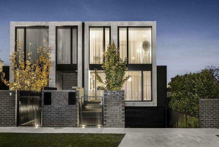 fachadas modernas con ventanas grandes