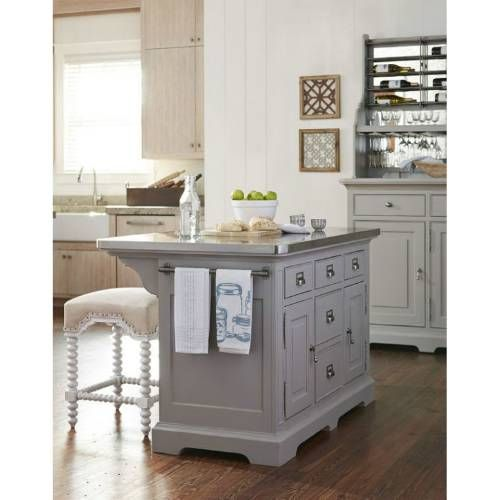 Paula Deen Furniture 599644 The Kitchen Island In Cobblestone
