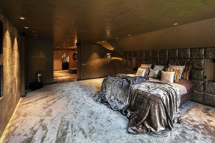 Glamour wellness interieur ontwerp. Slaapkamer inspiratie.
