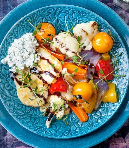 Ugnsbakade grönsaker med halloumi | MåBra - Nyttiga recept