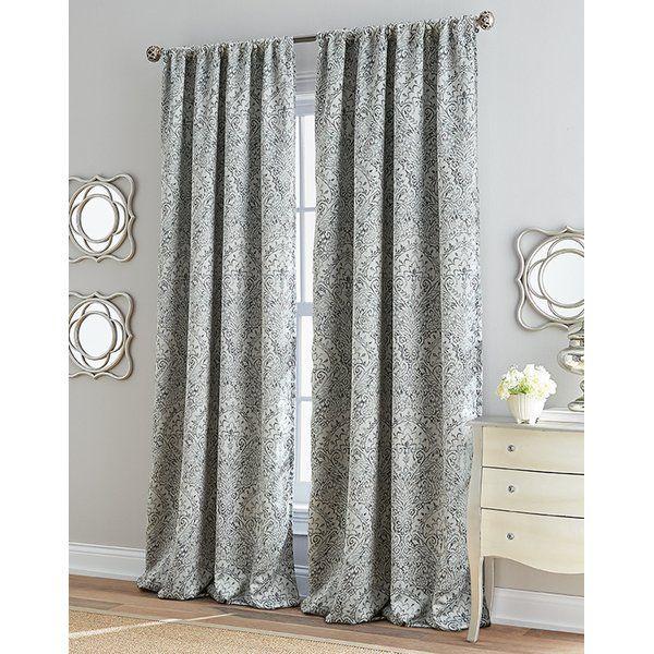 You Ll Love The Roseville Damask Room Darkening Rod Pocket Single Curtain Panel At Wayfair Great Deals On All Room Darkening Curtains Curtains Panel Curtains