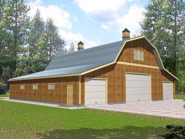 17 best images about garage on pinterest craftsman for Big garage house plans