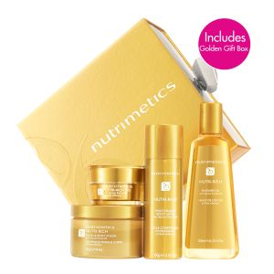 Nutrimetics Nutri-Rich Gift Set   Nutri-Rich is the perfect gift for Mum on Mothers Day.  Just $80.00, Save $53.00 (RRP $133)  Experience the ultimate in body luxury with the Nutri-Rich Set, infused with Apricot Kernel Oil to nourish and nurture the skin. Includes Nutri-Rich Oil, Shower Oil, Moisturising Body Satin and Hand & Body Polish.  Order online today at https://www.nutrimetics.com.au/cyndi/skincare/classic_care/nutri-rich_set.aspx