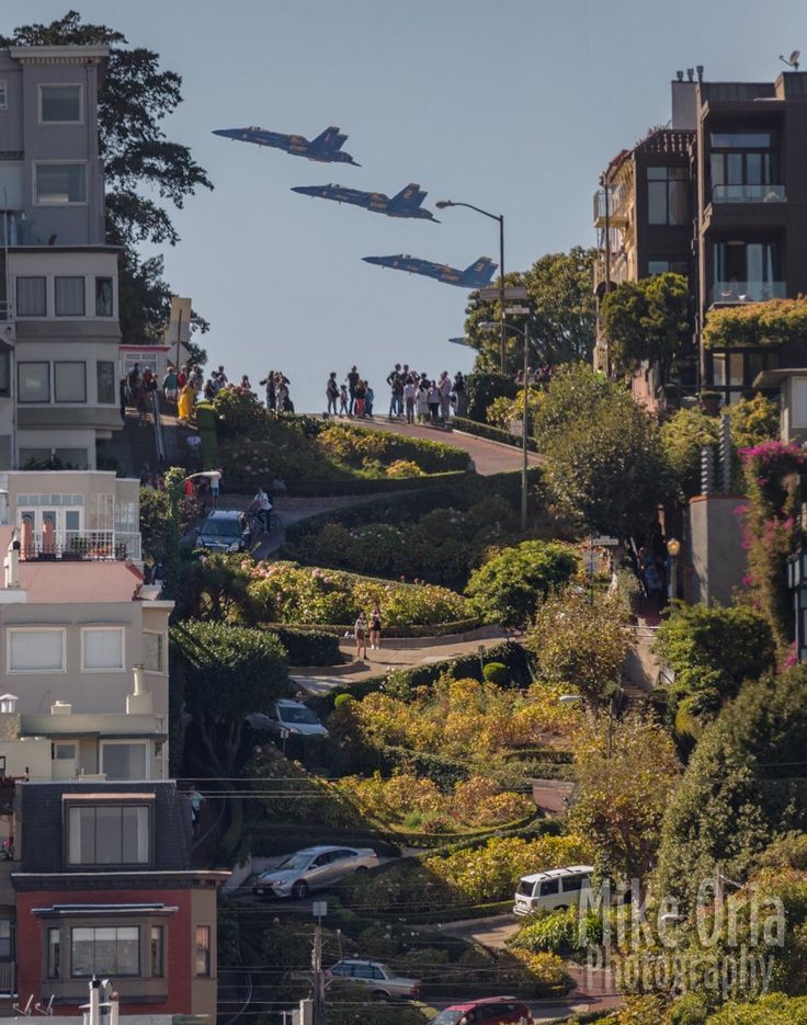 Blue Angels over Lombard St. By @mikeoria #sanfrancisco #sf