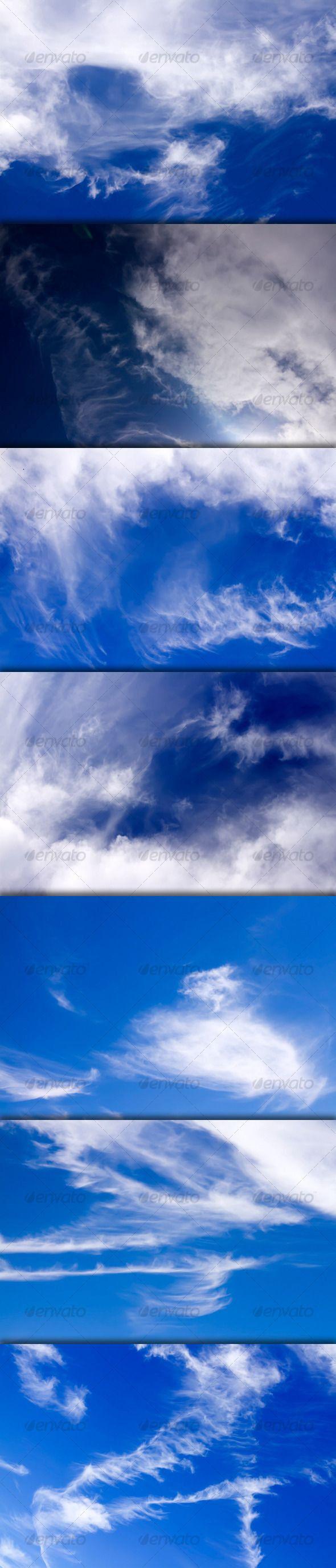 Delightful Cirrus Clouds On Good Weather Sky   Pack