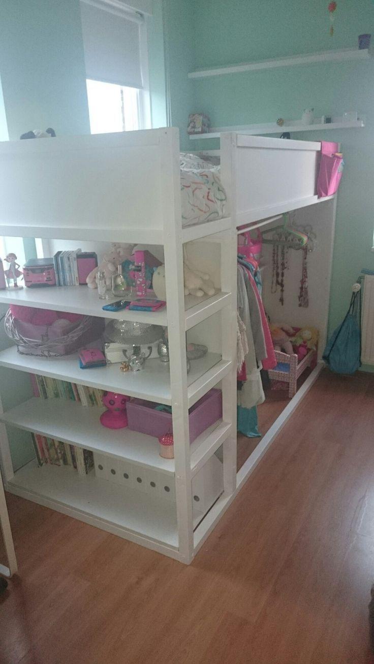 Kura Wendebett von IKEA mit Regalen – Kids Room Ideas #ideas #regalen #wendebett