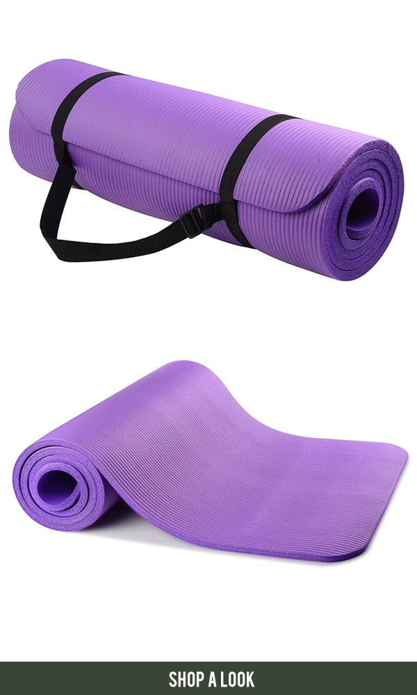 All Purpose 1 2 Inch Extra Thick High Density Anti Tear Exercise Yoga Mat With Carrying Strap Afflink Amazon Yoga Yogama Yoga Fitness Yoga For All Exercise