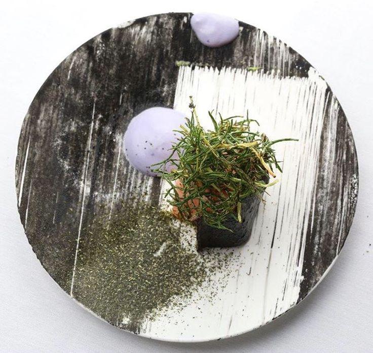Salmon, fried agretti, pickled purple cauliflower cream, wakame powder. #foodartchefs #foodporn #gourmet #expertfoods #yummy #healthy #gastronomy #food #instafood #foodstarz #instagood #foodpic #finedining #chefstalk #foodphotography #hipsterFoodOfficial #dontshootthechef #simplisticfood #delicious #foodgasm #foodpics #chefsroll #gastronomy #thestaffcanteen #foodknockout #ChefsOfInstagram #gastroart #theartofplating #gourmetartistry #cookniche #SoigneFood