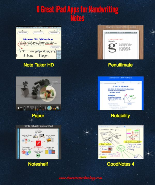 6 Great iPad Apps for Handwriting Notes ~ Educational Technology and Mobile Learning