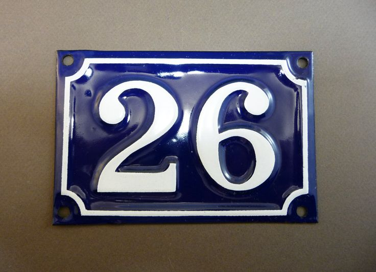 French Door Number 80 Blue enamel street sign, from 1 to 216, antique sign,  parisian touch - 119 Best Plaque Images On Pinterest Accessories, Coins And Enamel