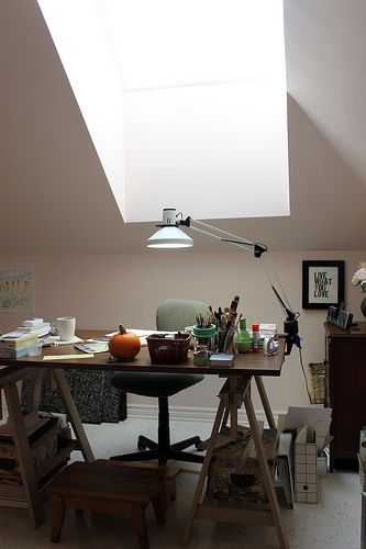 Skylight in my painting studio.