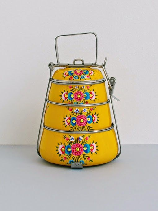 Handpainted Tiffin Carrier – Daisy