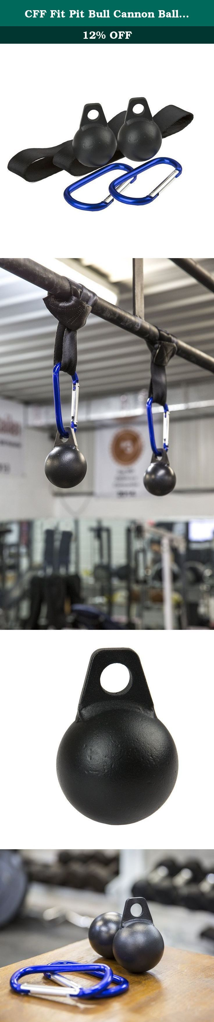 """CFF Fit Pit Bull Cannon Ball Grip Set - Set of 2 - 3"""". Your crush grip is the power between your fingers and your palm. Pinch grip is the power between your fingers and your thumbs. Cannonball grips are a great way to focus on both with one tool. Strengthen your hands, wrists, and forearms with this set of CFF Fit Pit Bull Cannon Ball Grips. Strengthening your crush grip and pinch grip is great for rock climbing, weightlifting, and more. These are important assets for American Ninjas..."""