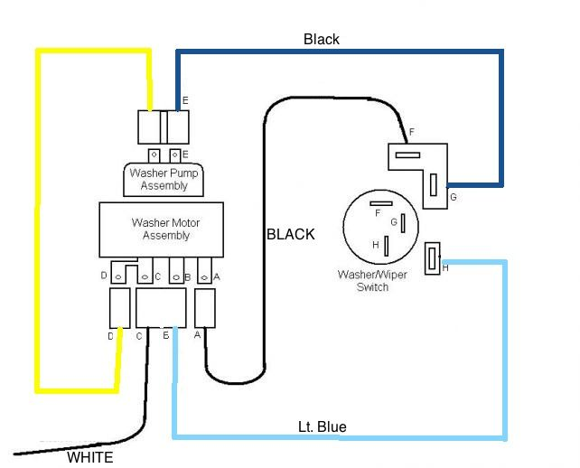 Electric  2 Speed Wiper Motor Diagram