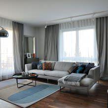 Современные угловые диваны в интерьере гостиной комнаты-8