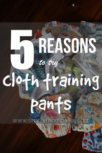 5 Reasons to try Cloth Training Pants - Trainers - Underwear - Learning Pants - Toddlers - Toilet Training - Potty Training - Potty Learning - Cloth Diapers