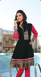 Show details for Red and Black Kurti