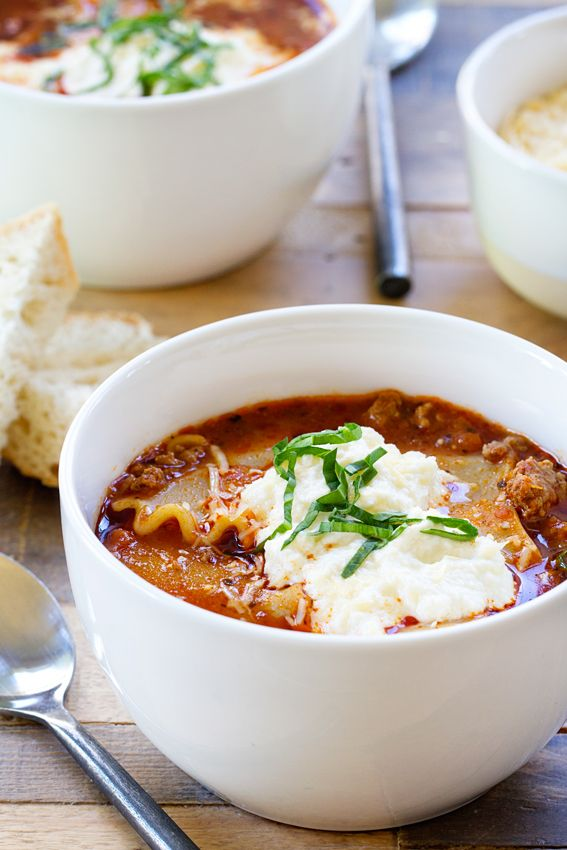 Lasagna Soup has all the flavors you love in lasagna. Quick and easy.