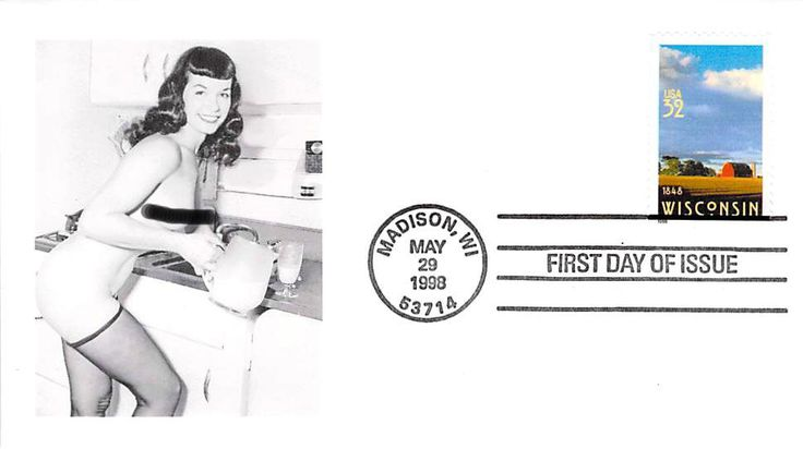 1998 Wisconsin First Day Cover - Bettie Page add 0n