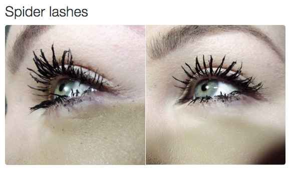 2ea1e898ee4 When clumpy mascara makes your lashes look creepy AF. #HowToApplyMascara