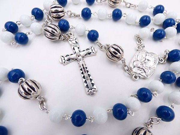 DEPAUL UNIVERSITY BLUE DEMONS ROSARY FROM ROSARYCREATIONS.COM