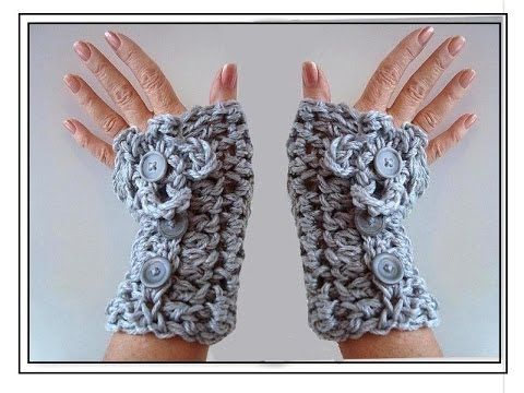 CROCHET TEXTING GLOVES, FINGERLESS GLOVES, HOW TO DIY ~ free pattern
