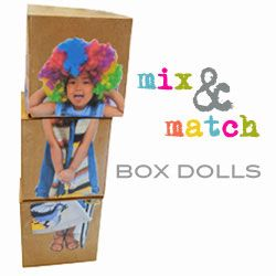 Mix and Match Dolls  |  small hands big artKids Plays, Diy Crafts, Diy Mixed, Boxes Dolls So, Block Diy, Kids Crafts, Matching Boxes, Matching Dolls, Parties Fun