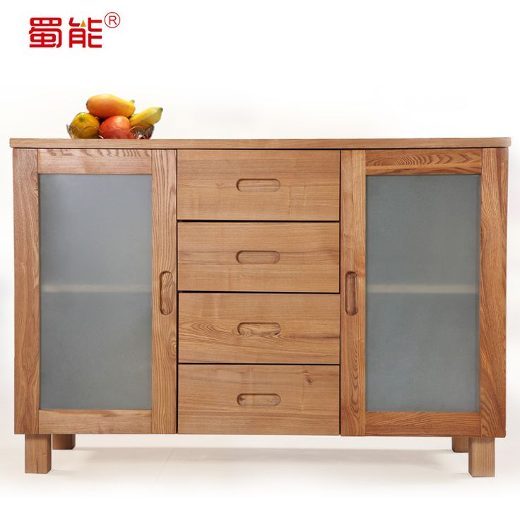 Sichuan wood furniture can be imported from Russia Ash Sideboard Sideboard Restaurant wine cooler cabinet lockers