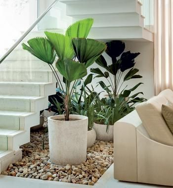 jardins de casas modernas - another way to use space under stairs