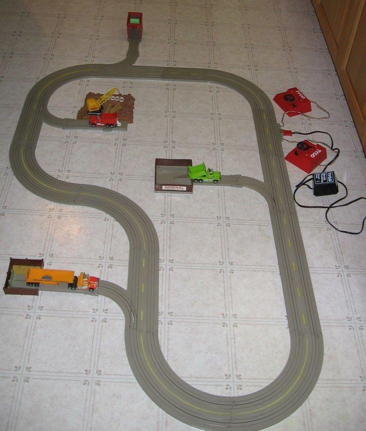 Possible electric slot car racetrack vintage apologise, but