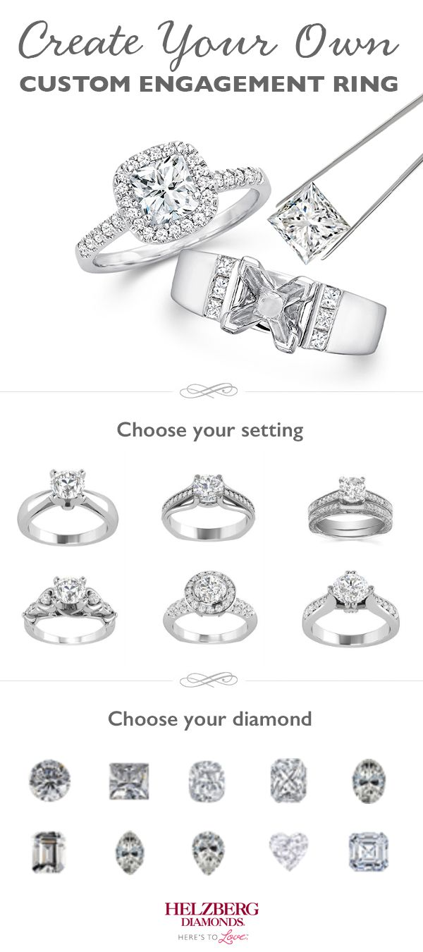 The Perfect Engagement Ring May Be The One You Create Yourself At Helzberg,  You