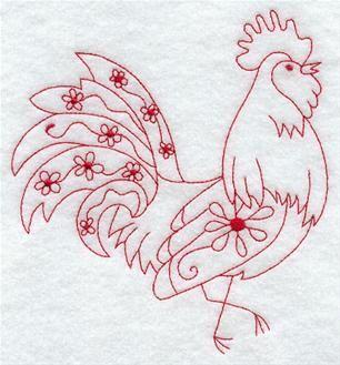 Machine Embroidery Design Redwork Blackwork Animals