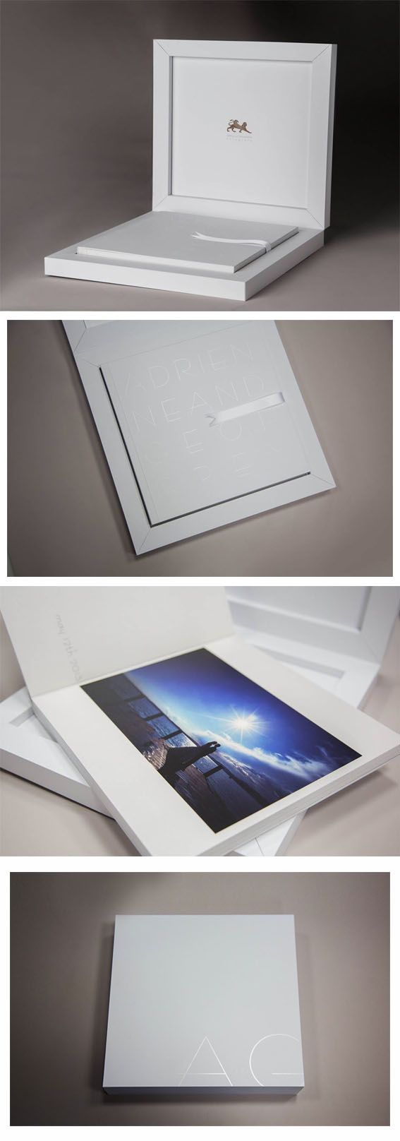 This is a unique interpretation of the Young Book, based on the purity of the white, where the extremely accurate design enhances it and turn it into something completely new. Seen in person, it is a really precious item, which has the ability of predisposing in the best way possible those about to look at the photographic service. Congratulations to the author, Glauco Comoretto.#graphistudio #madeinitaly